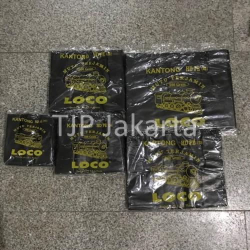 Foto Produk Kantong Plastik Kresek Loco Tebal Hitam 500 gram ukuran 17 - 40 - 17 x 33 dari TJP Jkt