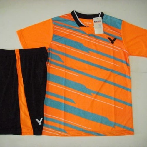 Foto Produk Setelan BADMINTON / BULUTANGKIS Victor V.27 (Orange Grey) dari Indosport