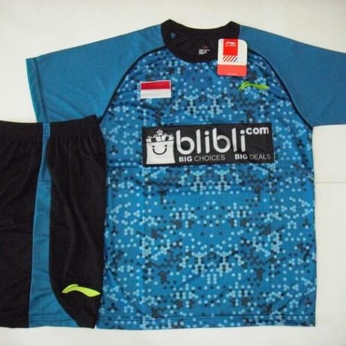 Foto Produk Setelan BADMINTON / BULUTANGKIS Lining L.31 (Softblue Black) dari Indosport