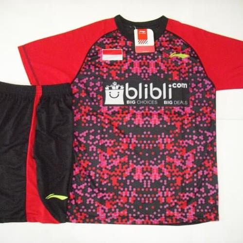 Foto Produk Setelan BADMINTON / BULUTANGKIS Lining L.31 (Red Black) dari Indosport