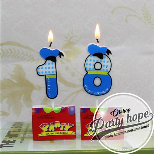Foto Produk lilin ultah / lilin angka / lilin Kue disney / lilin donald duck dari PARTY HOPE 2