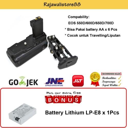 Foto Produk Rajawali Battery Grip BG-E8 for Canon 550D-600D-700D- Free Canon LP-E8 dari Rajawalidigital