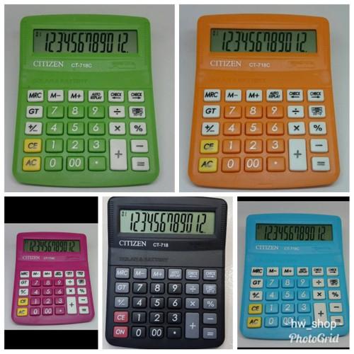 Foto Produk Kalkulator Citizen 718 Warna / Calculator Citizen 718 - Biru Muda dari Istanajam