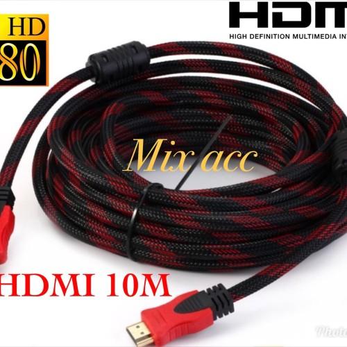 Foto Produk KABEL HDMI 10M SERAT JARING HDMI TO HDMI 10 m 1080P V1.4 3D HQ dari Mix acc88