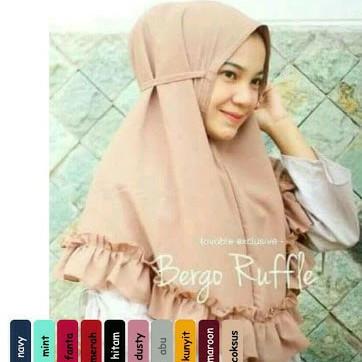 Foto Produk jilbab instan rempel/jilbab instan tali/hijab instan rempel tali dari Ararya-grosir