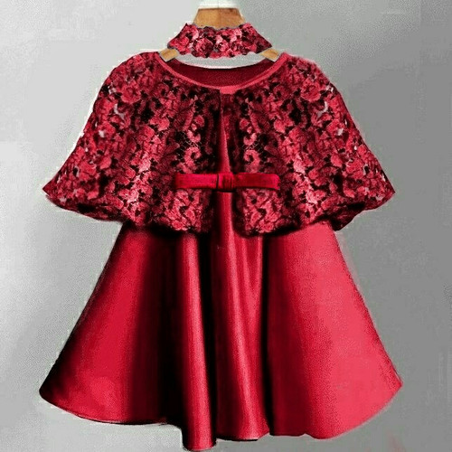 Foto Produk Dress Kelly Cape Kid Red Bandana dari HER'Z SHOP