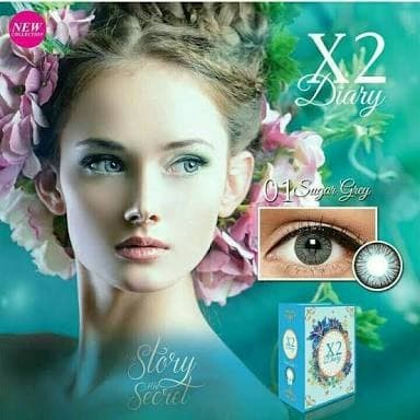 Foto Produk Softlens warna tahunan X2 Diary ready minus yearly baby eyes big eyes dari ASEAN Shop
