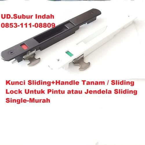 Foto Produk Kunci Sliding+Handle Tanam Untuk Pintu atau Jendela Sliding Single dari UD.Subur Indah