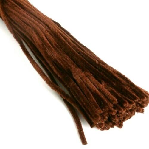 Foto Produk Kawat Bulu Beludru Pipe Cleaner - Coklat dari Hans and Me
