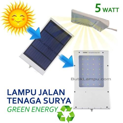 Foto Produk Lampu Jalan PJU Tenaga Surya Solar Cell LED 5W Matahari tanpa listrik dari butiklampu