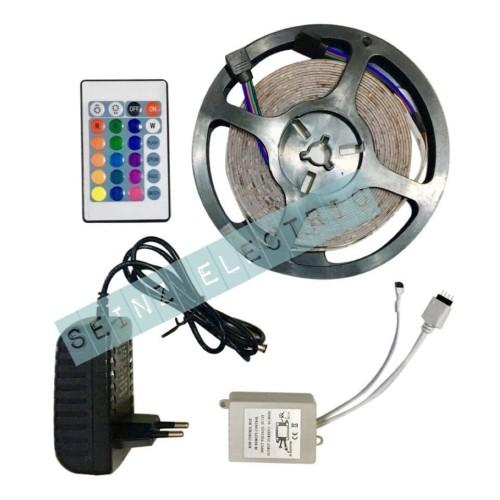 Foto Produk Seinz LED strip 3528 / 2835 RGB + Adaptor + remote + modul dari GrosirAksesorisFashion