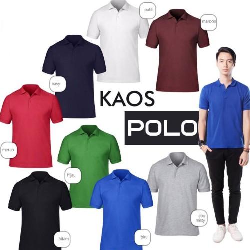 Foto Produk kaos kerah polo shirt berkerah polos grosir pria cowok murah dari importir jersey