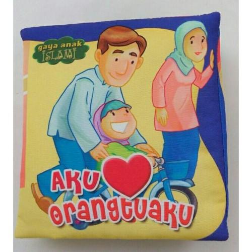 Foto Produk Buku Bantal Kain Softbook Bayi Aku Cinta Orang Tuaku dari BUKU BANTAL BAYI SBY