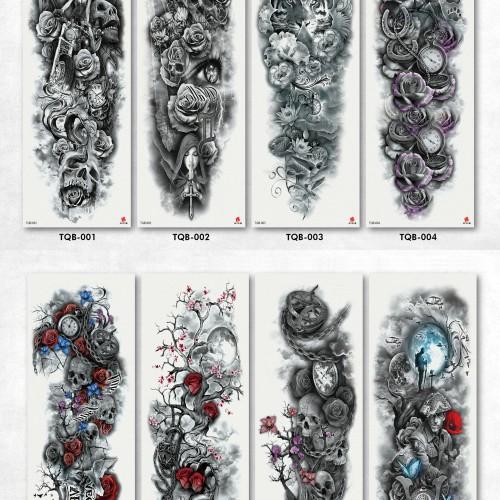 Foto Produk Tato/Tatto temporary/Tatto temporer/Tatto full lengan 17x46 Baru TQB dari Abadi Foto