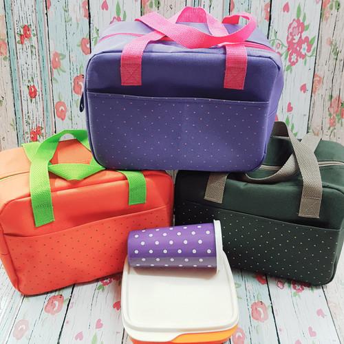Foto Produk Tas Bekal Makan / Korea Cooler Lunch Bag/ Tas Kotak Makan dari Adi Laris Shop
