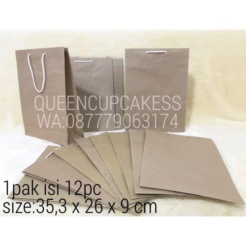 Foto Produk paper bag polos / paper bag coklat besar dari QUEENCUPCAKESS