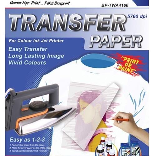 Foto Produk Blueprint Transfer Paper (BP-TPA4160) - A4, 5 Sheet, 160 Gsm, Cast Coating, Glossy, Water Resistant dari Dbestcompushop