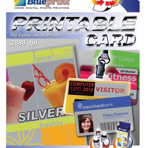 Foto Produk Blueprint Printable Card (BP-PCA4830) - A4, 5 Sheet, 830 Um, Laminating Plate dari Dbestcompushop