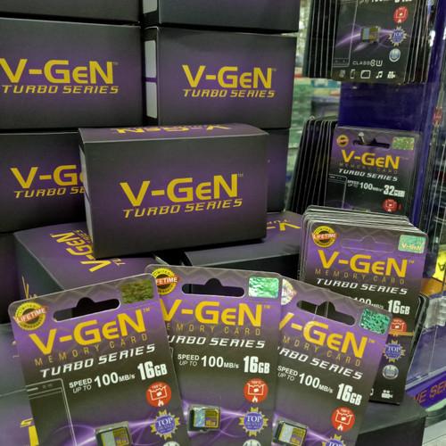Foto Produk V-gen Micro SD Vgen 16GB Class 10 TURBO SERIES Memory Card ORIGINAL dari Mel-v Com