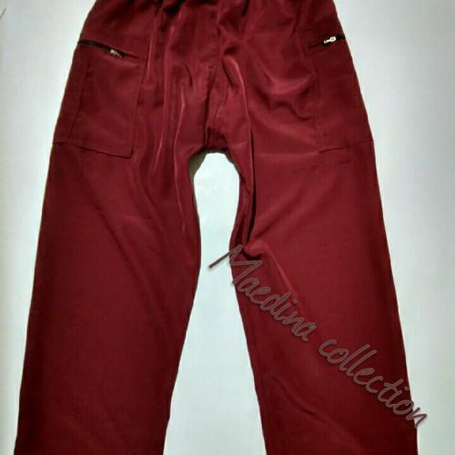 Foto Produk Ukuran XXL dan XXXL celana Komprang pangsi sirwal dewasa - Cokelat dari maedina colection