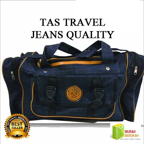 Foto Produk TAS TRAVEL KOPER BAG JUMBO BAHAN JEANS MURAH - Biru dari MURAH BAROKAH KDS