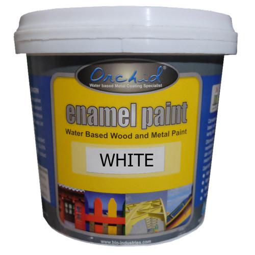 Foto Produk Cat Besi dan Kayu Waterbased Orchid Enamel Paint White dari Semesta Satu