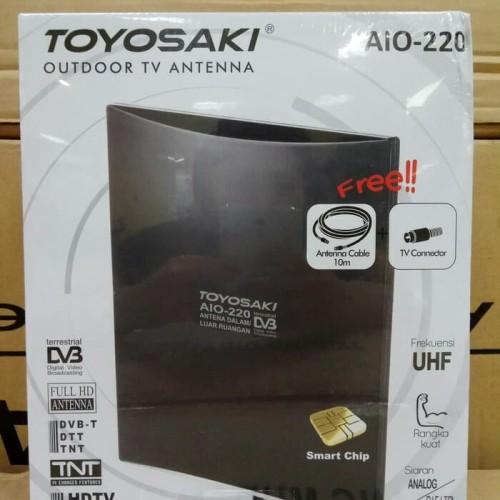 Foto Produk Antena TV Luar / Dalam Indoor/Outdoor Digital/Analog Toyosaki AIO 220 dari tk terang jaya elektrik