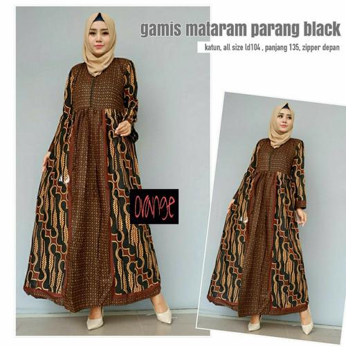 Foto Produk Dress Gamis Batik Mataram Parang Black dari toko O-range