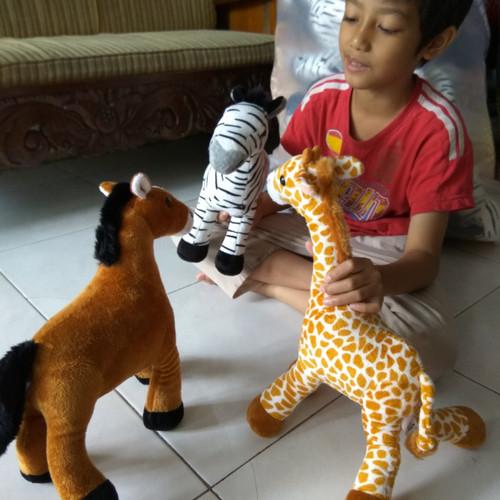 """Foto Produk Boneka hewan 13"""" (kuda, zebra, Jerapah) ukuran M dari Boneka MP Toys"""