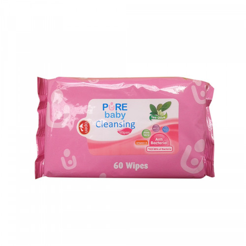 Foto Produk Pure Baby - Cleansing Wipes TEA OLIVE 2pk dari Chubby Baby Shop