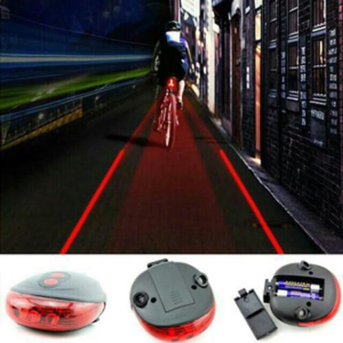 Foto Produk Lampu sepeda laser plus bracket - Biru dari angel-city