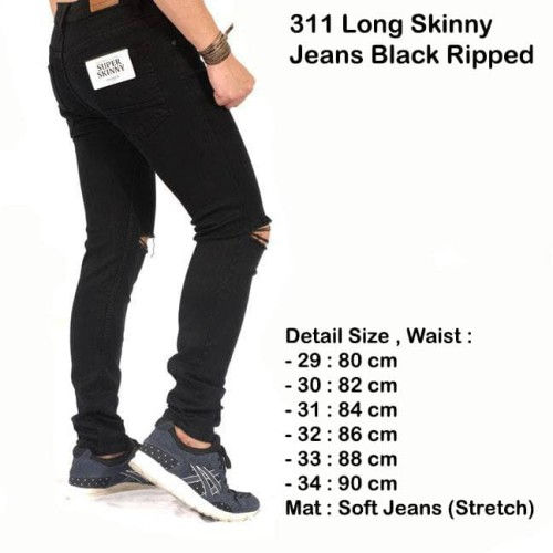 Foto Produk celana hitam ripped jeans / celana panjang pria sobek hitam ( best ) - Hitam, 29 dari Brotherholicstore