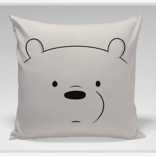Foto Produk Bantal Sofa / bantal dekorasi We Bare Bears - Ice Bear Face dari LittleLikz