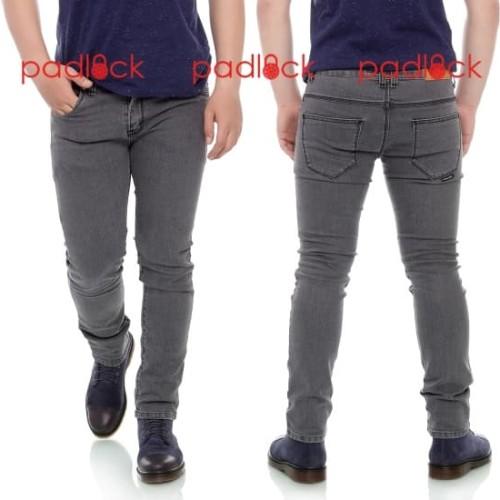 Foto Produk Celana jeans pria skinny / slimfit / padlock - Abu-Abu Muda, 34 dari padlock