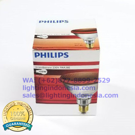 Foto Produk Lampu Infrared PHILIPS InfraPhil PAR38 IR 150W E27 230V RED 1CT/12 dari eLighting