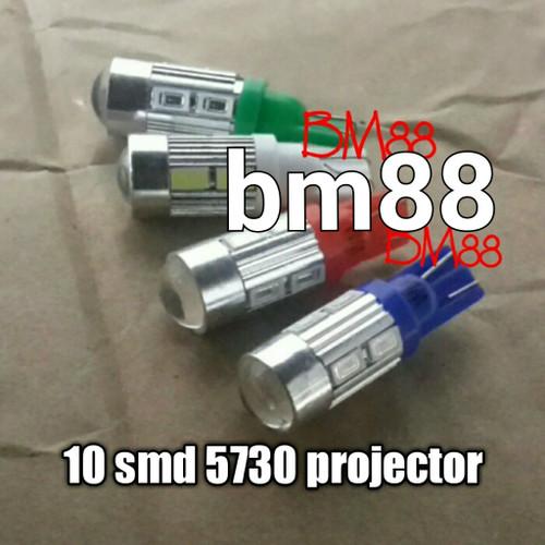 Foto Produk Sen Colok Led T10 10 SMD 5630 / 5730 Projector dari BarokahMotor88