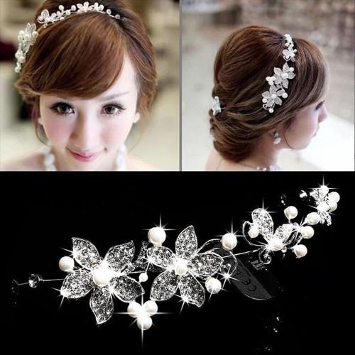 Foto Produk headpiece bunga hiasan sanggul headband rambut pengantin dari closet tour