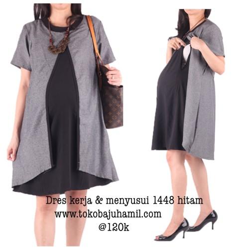 Foto Produk Baju hamil & menyusui 1448 hitam dari Hmill baju hamil