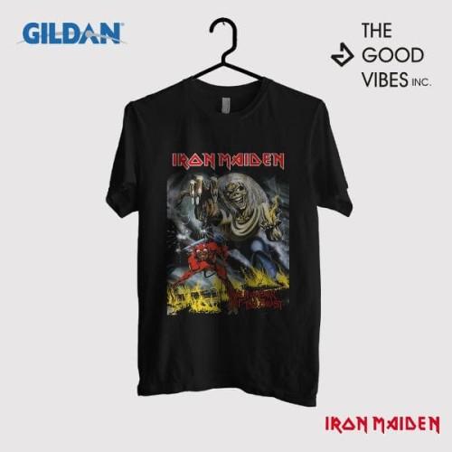 Foto Produk Kaos Iron Maiden Original Gildan - Beast dari Good Vibes Inc