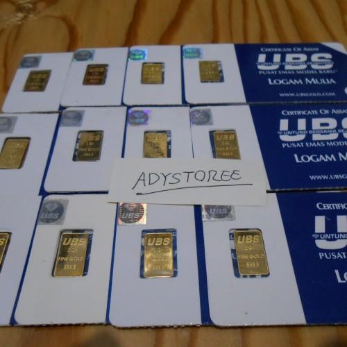 Foto Produk logam mulia emas ubs 1 gram dari adystoree