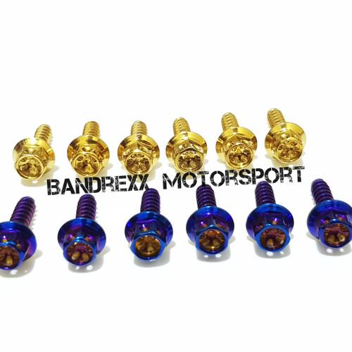 Foto Produk Baut Probolt Hexagonal for Filter Udara Nmax- Xmax- Aerox 155 - Biru dari Bandrexx Motorsport