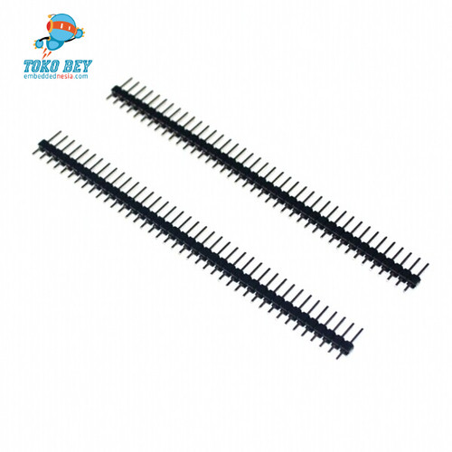 Foto Produk Single Row Male 1X40 Pin Header Strip / Tulang Ikan / pin deret dari TOKO BEY