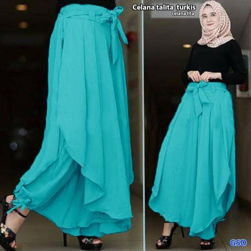 Foto Produk celana talita turkis/celana kulot lapis rok tali ikat cewek hijab dari Baju Perempuan shop