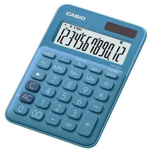 Foto Produk CASIO Colorful Calculator MS-20UC-Blue dari Casio Calculator