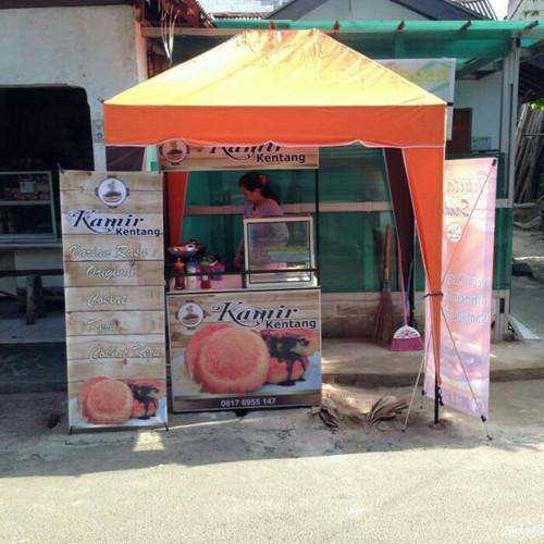 Foto Produk Tenda Cafe ukuran 1x1.5 Bongkar Pasang Portable - Orange dari Keisha Store