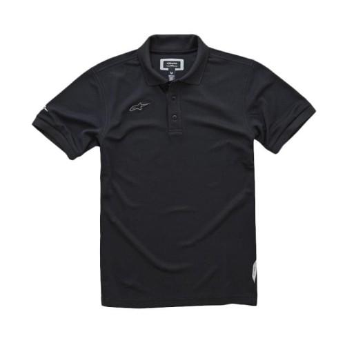 Foto Produk Alpinestars Vortex Polo Shirt Pria Original - Black - Hitam, S dari Helm Cargloss