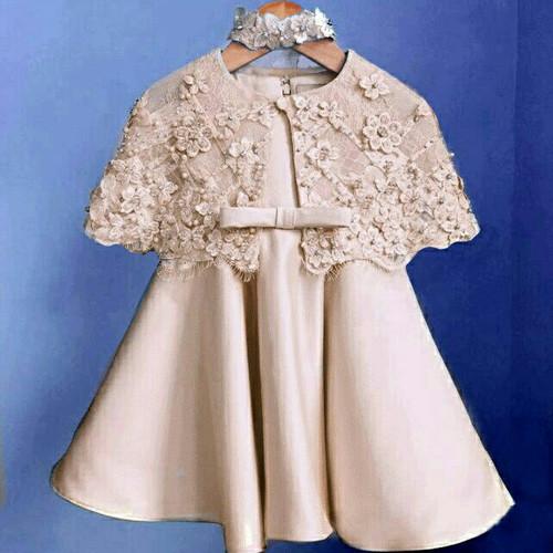Foto Produk Dress Kelly Kid Silk Cream dari HER'Z SHOP