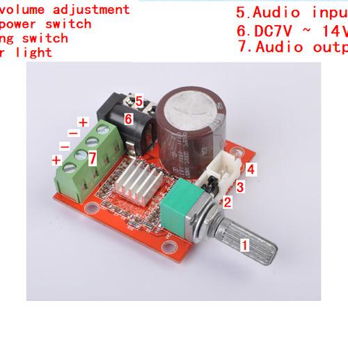 Foto Produk Stereo Digital Audio Amplifier PAM 8610 class D dengan Potensio Volume dari Hobi Elektronika