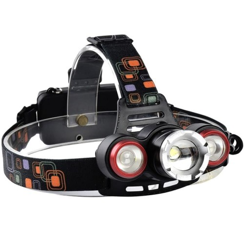 Foto Produk senter kepala T6 XQ TQ JL 117 3 mata led headlamp headlight dari grosirltc