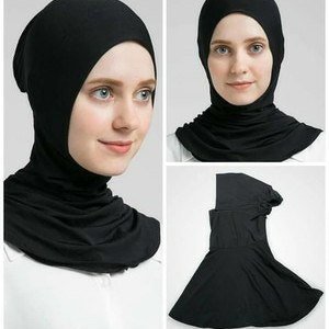Foto Produk Ciput inner ninja resleting dalaman kerudung hijab jilbab ciput ninja - Hitam dari T0M.0LSH0P